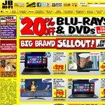 JB Hi-Fi 20% off Blu-Ray DVD Back on Again till Sunday