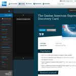 Qantas American Express Discovery Card - Fee Free, up to 7,500 Extra QFF, 0% Bal Trf