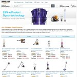 Dyson 25% off Amazon, Example DC34 (Non-Animal) $200 Delivered, DC50 Animal $508 Delivered