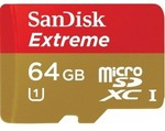 SanDisk 64GB Extreme 45MB/s microSD $89.95, 32GB $46.95, 64GB Ultra CZ45 USB $42.95 + FREESHIP
