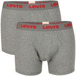 LEVI'S MEN'S ETHAN 2-PACK BOXER - GREY from The Hut for £4.99 (Less Than $10) + Delivery