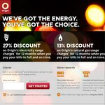 Origin Energy eSaver Plan 27% Discount on Electricity and 13% on Gas VIC Only
