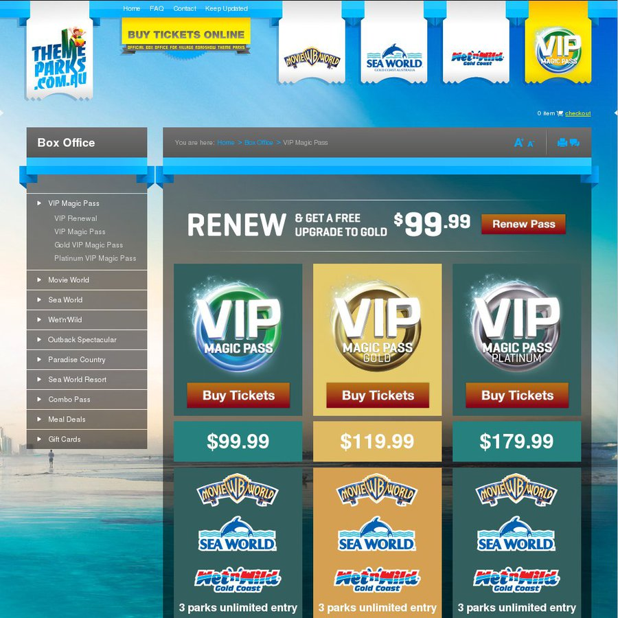 vip magic pass buy 3 get 1 free movie world sea world wet n wild ozbargain. Black Bedroom Furniture Sets. Home Design Ideas