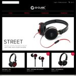 G-Cube Audio Headphones: 50% off w/Free Shipping: SpinG™ 3200 for $29.97, Street™ 320 for $39.97