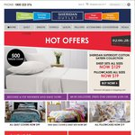 Sheridan Factory Outlet - Sheet Sets $129 (500TC), Pillowcases $19, Towels 60% off