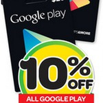 10% off Google Play Gift Cards, 30% off Facebook Gift Cards @ Woolworths (Ends 31/03)