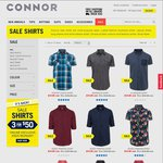 3 Shirts (Casual and Business) for $50 Delivered at Connor
