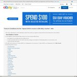 Spend $100 at Selected eBay Stores to Receive a $50 eBay Voucher