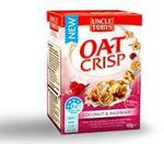 FREE: Uncle Tobys Oat Crisp (Coconut & Raspberry) Sample Pack @ PINCHme (Starts Feb 9)