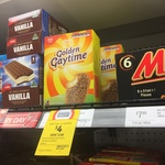 Golden Gaytime 4pk $4 at Coles