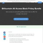 Bitfountain Black Friday Bundle (10 Online Courses) for $29 USD (~ $40 AUD) (First 100)