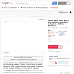 $25 Calvin Klein Jeans Tee Delivered @ Kogan