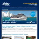 Win an 8N Cruise On Board Celebrity Solstice for 2 Worth $4,700 from Cruise Holidays