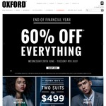 Oxford EOFY Sale - 60% off Everything