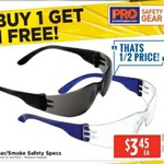 BOGOF Pro Choice Safety Specs Clear or Smoke $3.45 in Store Only @ Total Tools ($1.73 Each) Starts 13/7