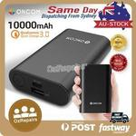 ONCOM 10000mAh Power Bank Battery QC 3.0 - $37.99 (24% off) Delivered from Sydney @ mobilemall_com_au on eBay