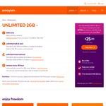 amaysim - Unlimited 2GB Prepaid Plan $15 (Usually $25) First 6 Renewals Only