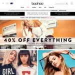 40% off Everything + Free Shipping (over $60) @ Boohoo AU