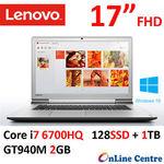 """Lenovo IdeaPad 700 17.3"""" FHD Core i7-6700HQ 16GB 128 SSD +1TB GT940 $983.18 Delivered @ OLC eBay"""