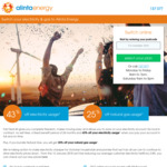 VIC Alinta Energy - 43% Pay on Time Discount off Electricity Usage Charge