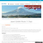 Japan 11 Days Tour from $2999pp incl Flights with All Nippon Airways RRP $3,499 Save $500 @ Nexus Holidays