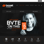Boost Mobile (Telstra 4G Network) | Unlimited | 15GB Data | 100 Int Mins | Data Rollover | Apple Music Streaming | $40/month*