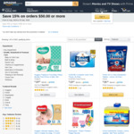 15% off $50+ Orders on Selected Household and Personal Care, Baby and Body Care Supplies @ Amazon AU