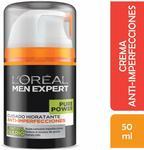 L'oréal Paris Men Expert Pure Power Moisturiser, 50 Gram $5.10 (Was $25.47) Delivery (Free with Prime or $49 Spend) @ Amazon AU