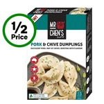 ½ Price Mr Chen's Varieties $3.75 (Was $7.50) @ Woolworths