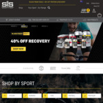 SiS - 40% off Protein, Supplements, & REGO plus Save $20 on Orders over $50. Free Delivery on Orders over $70 Otherwise $9.99