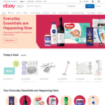 10% off Sitewide @ eBay ($120 Min Spend, $300 Max Discount)