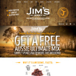 Spend $100 or More Online & Receive Free Jim's Jerky Ultimate Mix (Valued at $20) @ Jim's Jerky