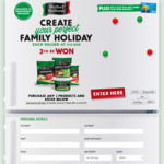 Win 1 of 3 Family Holidays or Instantly Win 1 of 100 $100 VISA Cards [Buy 2 Perfect Italiano Products from IGA / Ritchies etc]