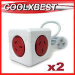 [eBay Plus] 2x PowerCube Extended 5 Outlets Board Stripe 1.5m $21.58 @ Coolxbest eBay