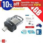 [ebay Plus] SanDisk Ultra Dual Drive 64GB USB 3 Micro USB or SanDisk Ultra Fit 64GB USB 3.1 - $27.95 for 2 Delivered @ SS eBay