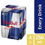 ½ Price Red Bull Energy Drink 4x250ml - $5.10 (VIC, WA, TAS), $5.30 (SA), $5.37 (ACT, NSW, QLD), $5.72 (NT) @ Coles