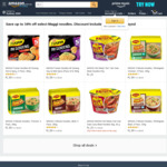 MAGGI Fusian Noodles Mi Goreng 5 Pack, 365g $1.99  + More | + Delivery (Free with Prime/ $49 Spend) @ Amazon AU