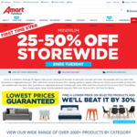 Minimum 25-50% off Storewide, Free Pickup /+ Delivery @ Amart Furniture