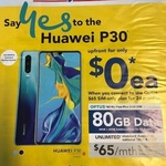 Huawei P30 $0 on Optus $65/Mth for 24 Mths with 80GB Data, Unlimited National Talk & Text @ Harvey Norman (In Store)