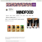 Win 1 of 5 NESCAFÉ Prize Packs Worth $55 from MiNDFOOD