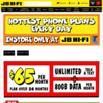 iPhone X 64GB $599 on Telstra $65 Plan (12 Mths, 60GB) @ JB Hi-Fi