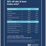 Pre-Christmas VIP Sale 50% off @ Australian Skin Clinics