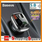 Baseus Bluetooth FM Transmitter Fast Charge 36W Dual USB + Type-C Charger $11.96 + Delivery (Free with eBay Plus) @ SS eBay