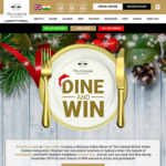 Win Prizes and Giveaways with Dine & Win in December from The Colonial British Indian Restaurants