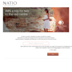 Win a Trip for 2 to Australia's Red Centre (Alice Springs) from Natio