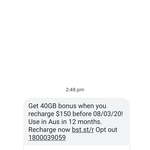 Bonus 40GB Data on 80GB/ $150 12 Months Plan for Recharge @ Boost Mobile
