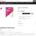 Telstra $40 Pre-Paid SIM Starter Kit, $32 Shipped at Xtreme Communications