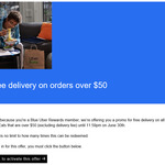 Unlimited Free Delivery on Orders over $50 until June 30th @ Uber Eats (Blue Rewards Members)