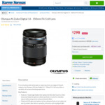 Olympus M.Zuiko Digital 14 - 150mm F4-5.6II Lens $298 + Delivery at Harvey Norman