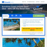 4 Nights Luxury 4 Star Sunshine Coast Hotel Accom. (2 Adults, 2 Child) for $366.10 @ Unsold.com